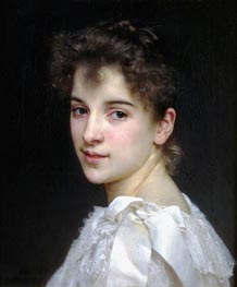 Portrait of Gabrielle Drienza, 1890 by Bouguereau | Painting Reproduction