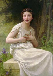 Reflection, 1897 by Bouguereau | Painting Reproduction
