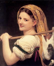 Returned from the Market, 1869 by Bouguereau | Painting Reproduction