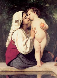 The Kiss, 1863 by Bouguereau | Painting Reproduction