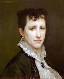 Portrait of Miss Elizabeth Gardner, 1879 by Bouguereau | Painting Reproduction
