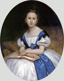 Portrait of Miss Brissac, 1863 by Bouguereau | Painting Reproduction
