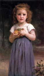 Little Girl Holding Apples in Her Hands, 1895 by Bouguereau | Painting Reproduction