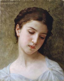 Head of a Young Girl, 1898 by Bouguereau | Painting Reproduction