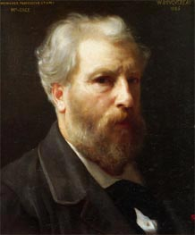 Self Portrait Presented to M. Sage, 1886 by Bouguereau | Painting Reproduction