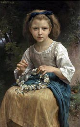Child Braiding a Crown, 1874 by Bouguereau | Painting Reproduction
