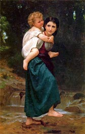 The Crossing of the Ford, 1869 by Bouguereau | Painting Reproduction