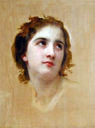 Sketch of a Young Woman, Undated by Bouguereau | Painting Reproduction