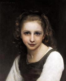Portrait of a Young Girl, 1890 by Bouguereau | Painting Reproduction