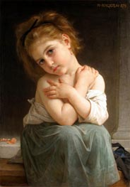 Chilly Girl (La frileuse), 1879 by Bouguereau | Painting Reproduction