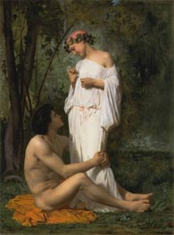 Idylle, 1851 by Bouguereau | Painting Reproduction