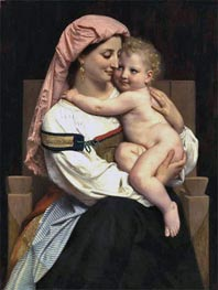 Woman of Cervara and Her Child, 1861 by Bouguereau | Painting Reproduction