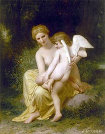 Wounded Eros, 1857 by Bouguereau | Painting Reproduction