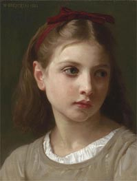 A Young Girl, 1886 by Bouguereau | Painting Reproduction