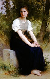 The Song of the Nightingale, 1895 by Bouguereau | Painting Reproduction