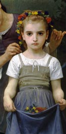 The Jewel of the Fields (Detail), 1884 by Bouguereau   Painting Reproduction