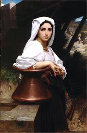 Italian Girl Drawing Water, 1871 by Bouguereau | Painting Reproduction