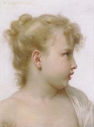 Head of a Little Girl, 1888 by Bouguereau | Painting Reproduction