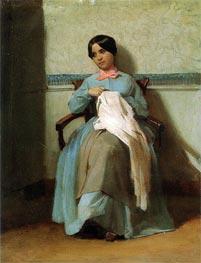 Portrait of Leonie Bouguereau, 1850 by Bouguereau | Painting Reproduction