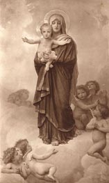 Our Lady of the Angels, 1889 by Bouguereau   Painting Reproduction