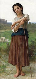 Young Shepherdess, 1887 by Bouguereau | Painting Reproduction