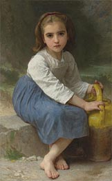 Girl with Pitcher, 1885 by Bouguereau   Painting Reproduction