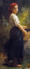Girl with Grapes, 1874 by Bouguereau | Painting Reproduction