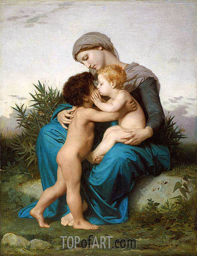 Fraternal Love, 1851 | Bouguereau | Painting Reproduction
