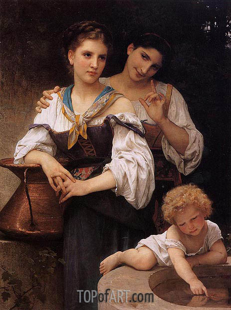 The Secret, c.1876 | Bouguereau| Painting Reproduction