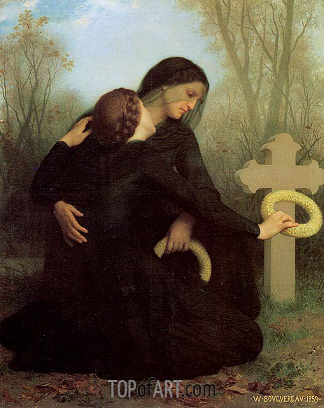 Le jour des morts (All Saints' Day), 1859 | Bouguereau | Painting Reproduction