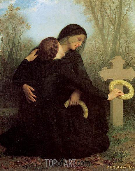 Le jour des morts (All Saints' Day), 1859 | Bouguereau | Gemälde Reproduktion
