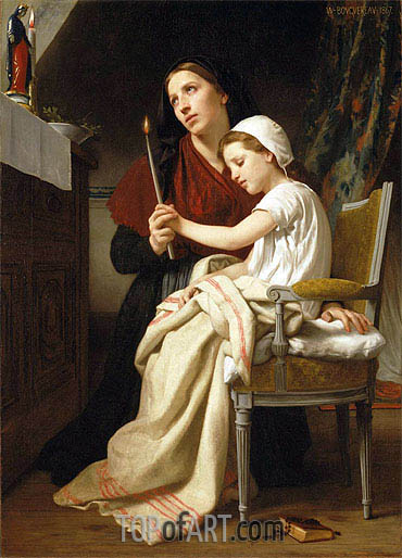 The Thank Offering, 1867 | Bouguereau| Painting Reproduction