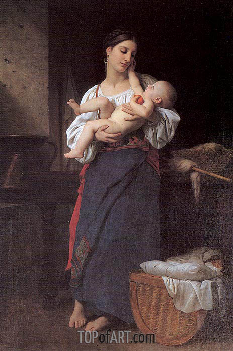 Bouguereau | First Caresses, 1866