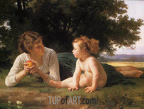 Temptation, 1880 | Bouguereau | Gemälde Reproduktion
