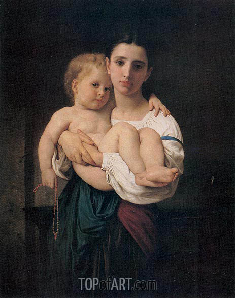 The Elder Sister, undated | Bouguereau| Painting Reproduction