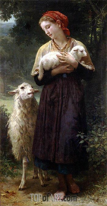 The Shepherdess, 1873 | Bouguereau | Painting Reproduction