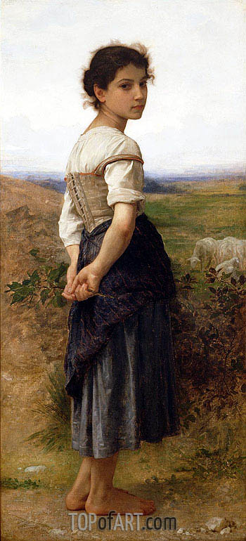 Bouguereau | The Young Shepherdess, 1885