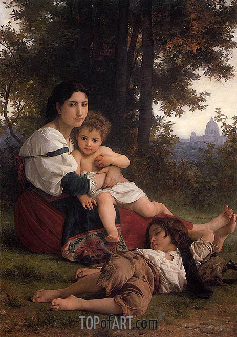 Rest, 1879 | Bouguereau | Gemälde Reproduktion