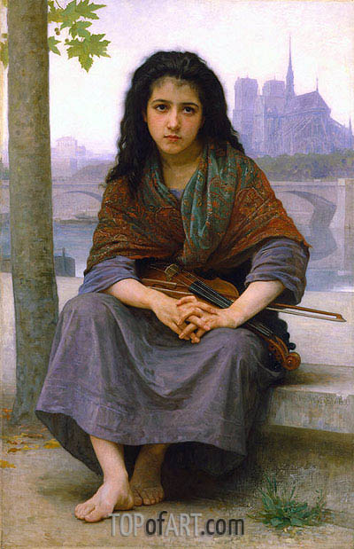 The Bohemian, 1890 | Bouguereau| Gemälde Reproduktion