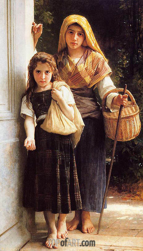 Les petites mendicantes (The Little Beggar Girls), 1890 | Bouguereau | Painting Reproduction