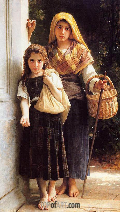 Bouguereau | Les petites mendicantes (The Little Beggar Girls), 1890