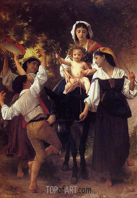 Return from the Harvest, 1878 | Bouguereau | Painting Reproduction