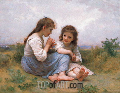 Childhood Idyll, 1900 | Bouguereau | Gemälde Reproduktion