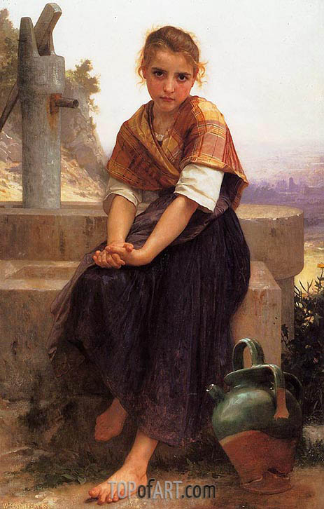 Bouguereau | The Broken Pitcher, 1891