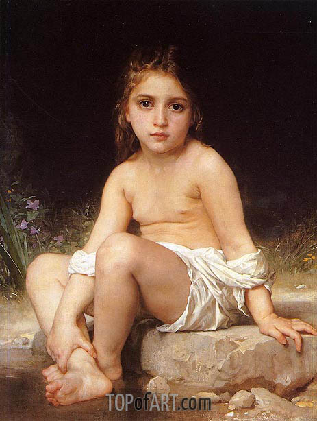 Child at Bath, 1886 | Bouguereau | Painting Reproduction