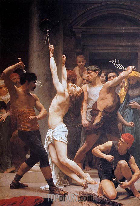 The Flagellation of Christ, 1880 | Bouguereau| Painting Reproduction