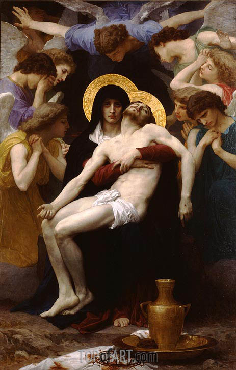 Pieta, 1876 | Bouguereau| Painting Reproduction