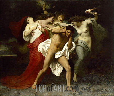 Orestes Pursued by the Furies, 1862 | Bouguereau| Painting Reproduction