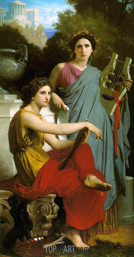 Art and Literature, 1867 | Bouguereau| Painting Reproduction