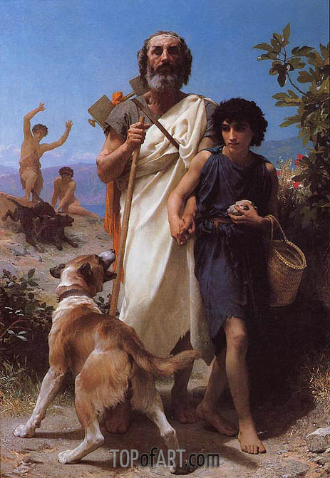 Bouguereau | Homer and His Guide, 1874